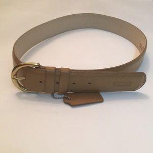 Coach tan belt leather